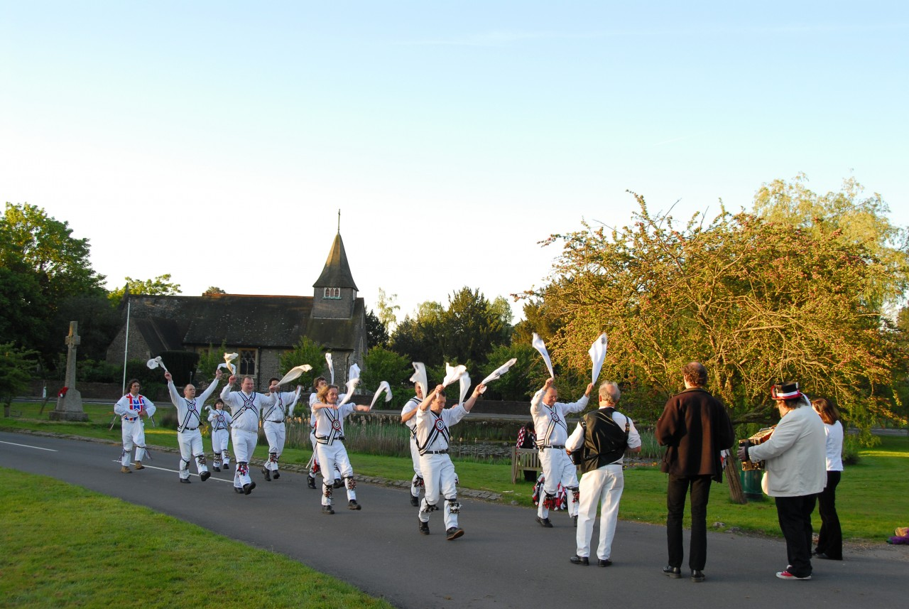 May day visit from morris men